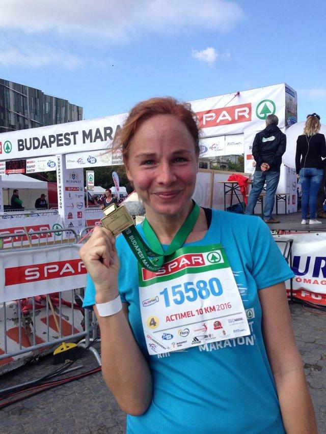 Ónodi Eszter életében először futott versenyen